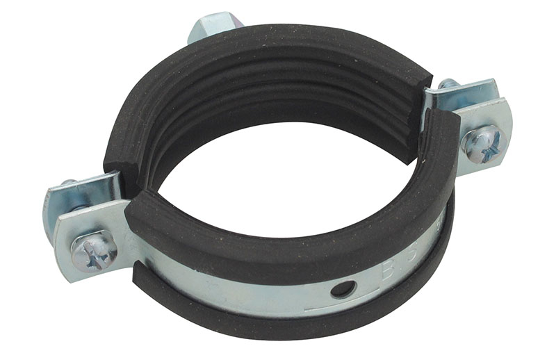 "BESTFIX  Хомут сантехнический с резинкой и гайкой PCNT 1 1/4"" (pipe clamp with hex nut and rubber (39-46))"