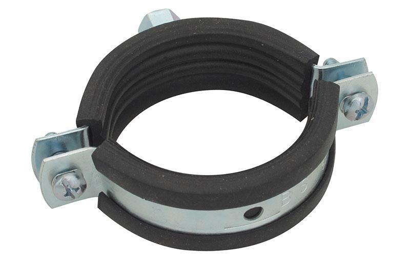 "BESTFIX  Хомут сантехнический с резинкой и гайкой PCNT 2 1/2"" (pipe clamp with hex nut and rubber (74-80))"